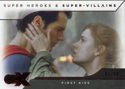 CZX DC Super Heroes & Villains Red [80] Base Card #36 First Kiss