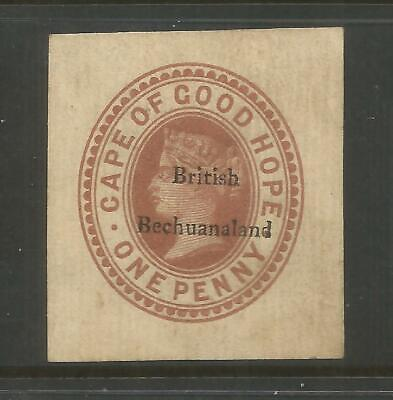 British Bechuanaland  Qv 1D Brown   Newspaper Wrapper Cut Out   Unused