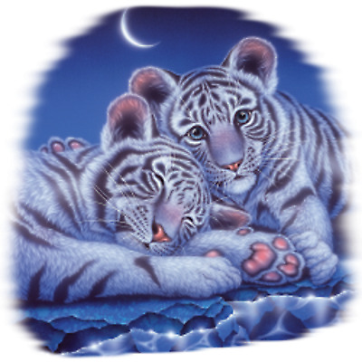 Two Babies-Tiger Size Youth Small-6 X Large T Shirt Size