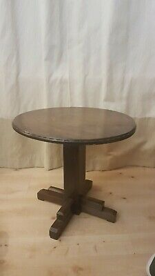 Lovely Old Small Oak Round Top coffee Table Buy It Now £19.99