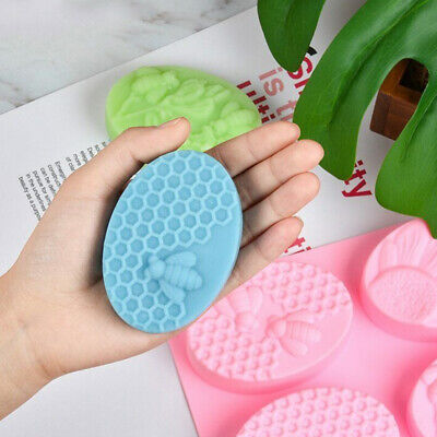 Bee Silicone Soap Mold DIY Handmade Craft 3D Making Cake Mould for Kitchen Kit
