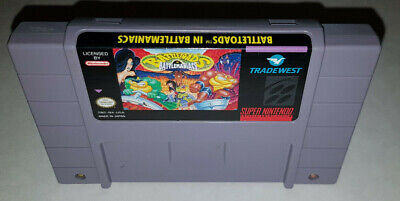 Battletoads in Battlemaniacs Super Nintendo SNES Tested and working!