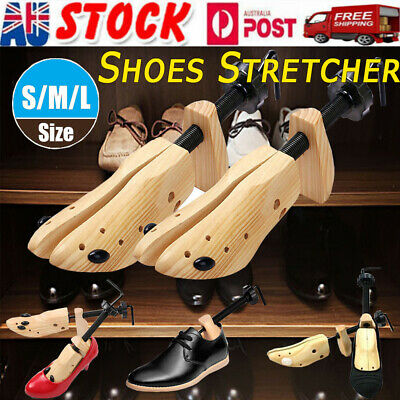 2-Way Wooden Shoes Stretcher Expander Shoe Timber Unisex Bunion Plugs AU STOCK