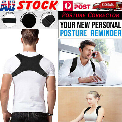 Posture Corrector Adjustable Women Men Shoulder Brace Back Support Strap Belt AU