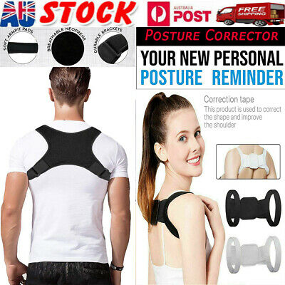Adjustable Posture Corrector Women Men Shoulder Brace Back Support Strap Belt AU