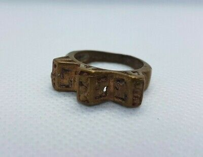 extremely ancient ring bronze viking artifact very Stunning