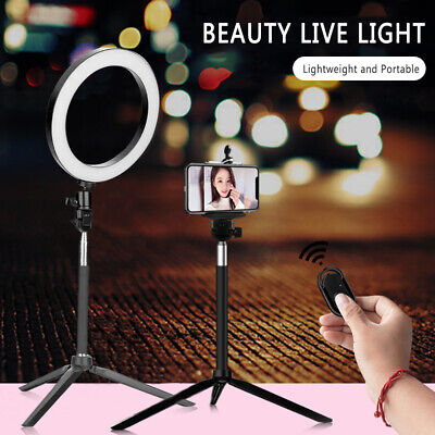 LED Ring Light Studio Photo Video Dimmable Lamp Tripod Selfie Camera Phone YO