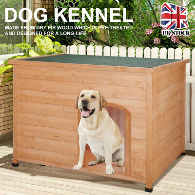 Insulated Extra Large Outdoor Dog Kennel Winter Pet House Wooden Easy Clean