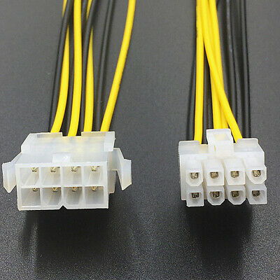 8Pin Male to Female CPU Motherboard Power Supply Cable Extension Cord Connector