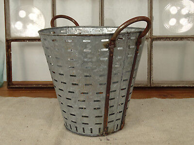 R4344 Olivenkorb~Iron Olives~Oliveneimer Zinc Plated ~ Olive Bucket