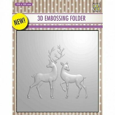 Nellie/'s Choice Embossing Folder Christmas Starry Night HSFC012-106mm x150mm