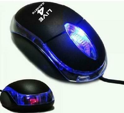 1 x USB Optical Wired Mouse For PC Laptop Computer Scroll Wheel Black
