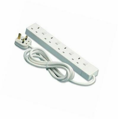 PIFCO 2 Meter 4 Gang Way Extension Lead with Single Plug Switches 1.25mm Cable