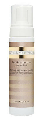 For All My Eternity Instant Self Tanning Mousse Gold Edition Fake Tanner 'mouse'