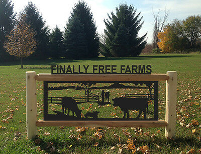 Angus Cattle Sign - Farm And Ranch