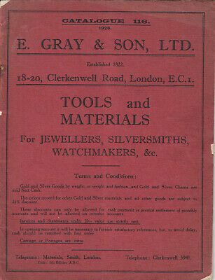 1928 Catalogue of Tools & Materials for Jewellers, Silversmiths, Watchmakers etc