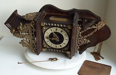 Vintage Zaandam Clock With FHS Germany Bell Strike Movement, No Weights