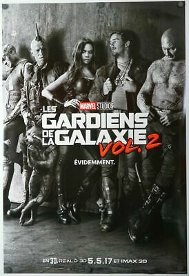 Guardians of the Galaxy 2 - original DS movie poster D/S 27x40 - FRENCH Advance