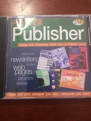 Power Publisher PC CD ROM - Design And Publishing 2000 GSP