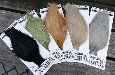 Whiting SPEY CAPE pro grade 7 Farben Auswahl plain & grizzly colors WHITING SPEY