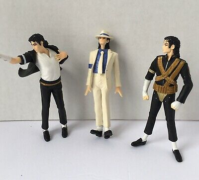 """3 King of Pop Michael Jackson 4"""" Figurines - 3 Poses - Pre-owned"""