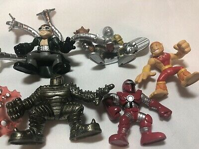Marvel Super Hero Squad ULTRA RARE IRON MAN Red Gold from Wave 21 Red Hulk Pack