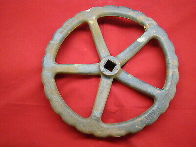 """Old Cast Iron Gate Valve Handle Spokes 12"""" Dia Steampunk Free Shipping"""