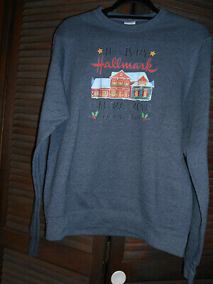 "New ""This is my HALLMARK Christmas Movie Watching Shirt"" Sweatshirt Gray, Size S"