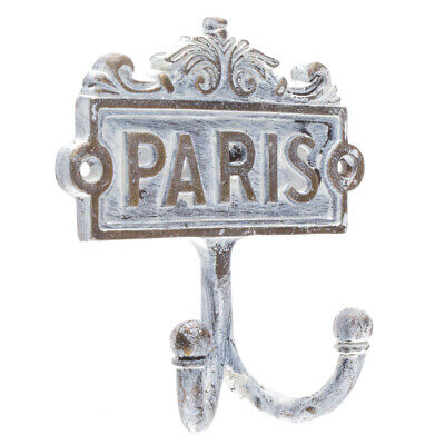 Paris France French Country Double Metal Wall Robe/Coat/Towel Hook SHABBY CHIC