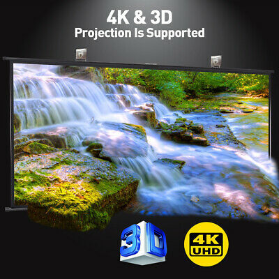 Portable Foldable Movie Projector Screen 16:9 Projection HD Home Theater 3D 4K