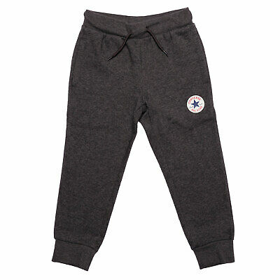 Infant Boys Converse Fleece Chuck Patch Jog Pants In Charcoal- Ribbed Waistband