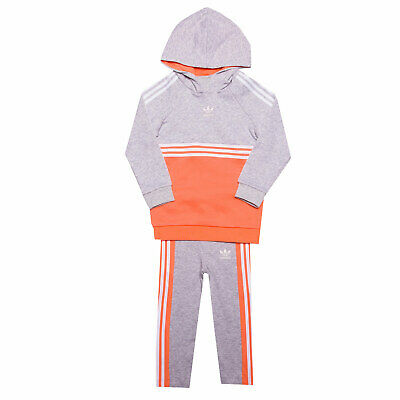 Baby Girls adidas Originals Authentic Tracksuit In Grey Heather- Hoody:- Ribbed