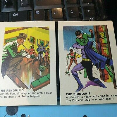 Batman Cards - Weeties & Rice Krinkles - 2 cards