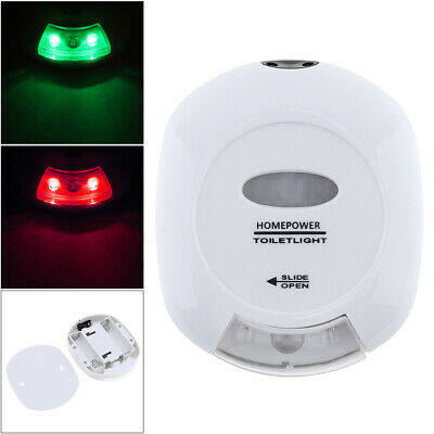 Red Green LED Motion Activated Seat Auto Sensor Bathroom Toilet Night Safe Light