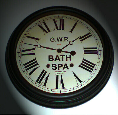Great Western Railway GWR Victorian Style Clock, Bath Spa Station Large Replica.