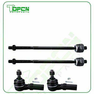 4x Front Inner Outer Tie Rod End EV80804 EV80805 Fits 2005-08 09 10 Ford Mustang