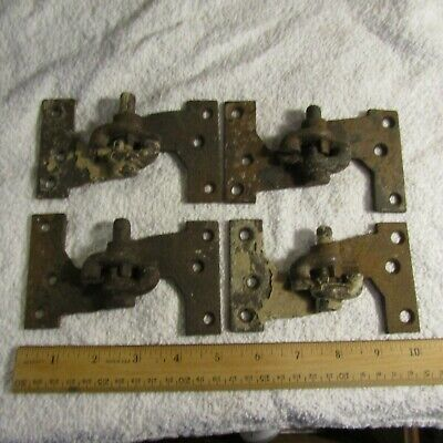 "Antique Victorian Age Cast Iron Shutter Hinges 4 Matched Sets 4 7/8"" x 2 7/8"""