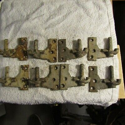 "Antique Victorian Age Cast Iron Shutter Hinges 4 Matched Sets 3 1/2"" x 2 7/8"""