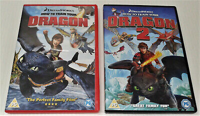 How To Train Your Dragon First + Second Movies 2 boxed DVDs. Very Good Condition