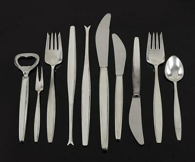 A Group Of Sterling Silver Utensils By Georg Jensen Cypress