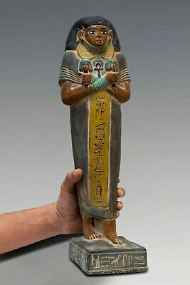 EGYPT EGYPTIAN Large STATUE ANTIQUES King Amenemhat 6.Kg STONE Middle Kingdom BC