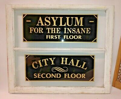 Asylum For The Insane - First Floor City Hall - Second Floor Antique Old Window