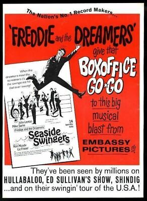 1967 Freddie And The Dreamers Seaside Oscilantes Película Comercio Estampado Ad