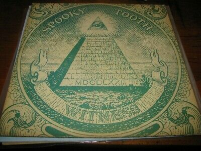 Spooky Tooth - Witness - Lp - Gtfld - Island 1974. - Sample Record Sticker