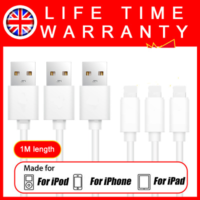USB Charger Cable Data Sync Charging Lead Wire For Apple iPhone X 6 7 8 Plus 5S