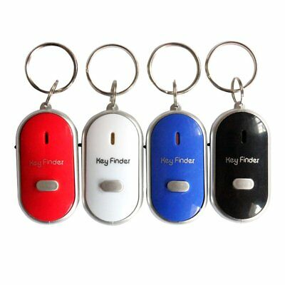 Lost Key Finder Whistle Flashing Beeping Locator Remote chain LED Sonic torch B0