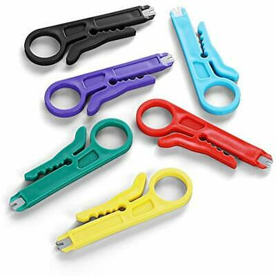 Mini Wire Stripper 6 Pack Network Punch Down Cutter Cable, RJ45/Cat5/CAT-6 Data