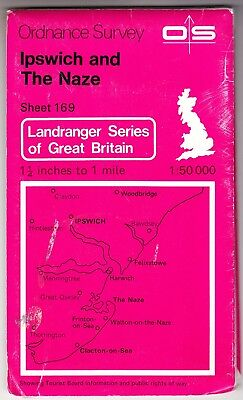 ORDNANCE SURVEY LANDRANGER MAP: IPSWICH & THE NAZE (Sheet 169)