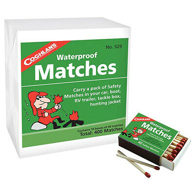 Coghlans Waterproof Matches 10 Boxes - 529