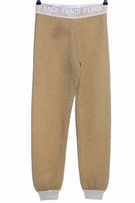 FENDI Leggings braun meliert Glanz-Optik Damen Gr. DE 38 Hose Trousers